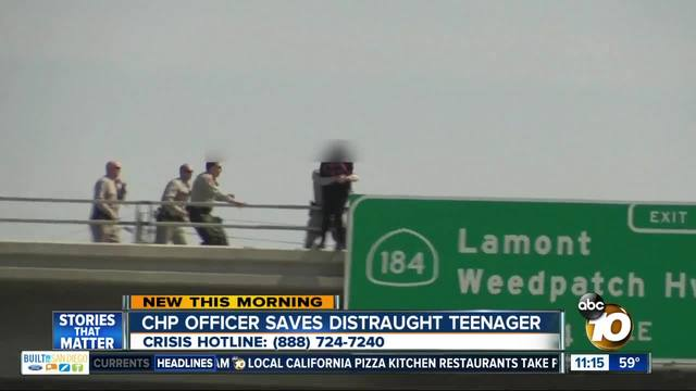 CHP Officer saves jumper