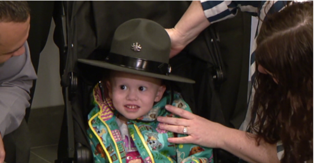 Child with cancer becomes honorary PA state trooper