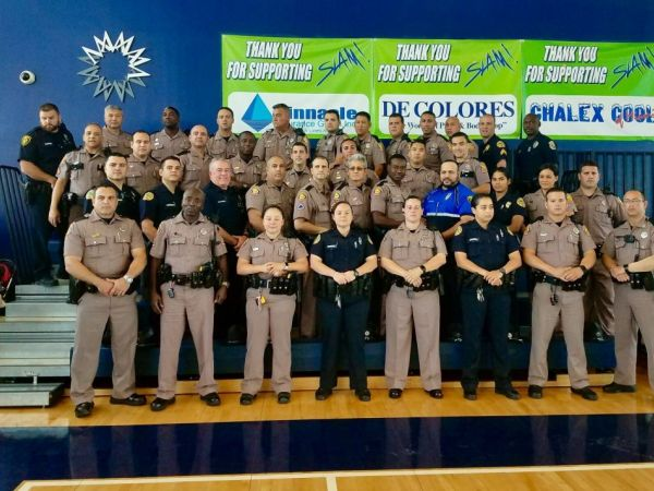 FHP officers attend basketball game