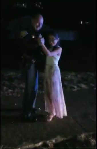 Indiana SP dances with girl