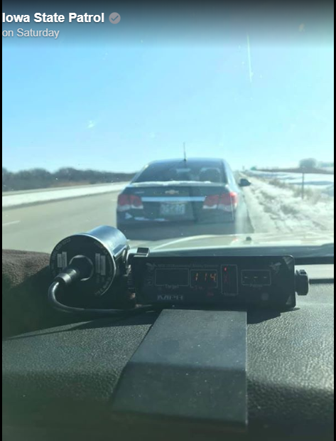 Iowa SP Unusual excuse for speeding
