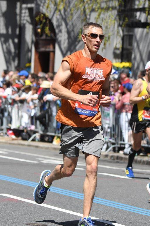 MHP Trooper Kindle Jones running Boston Marathon