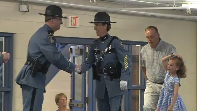 Maine SP 1st female trooper of the year
