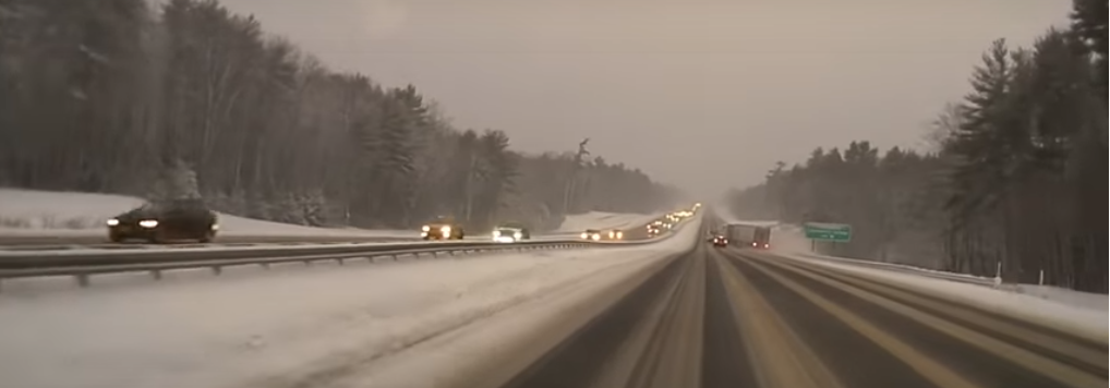 Maine video of tractor trailer