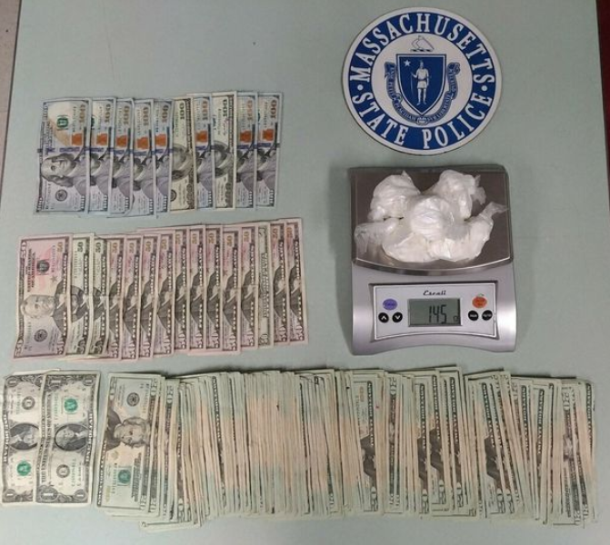 Mass Sp find cocaine cash during traffic stop