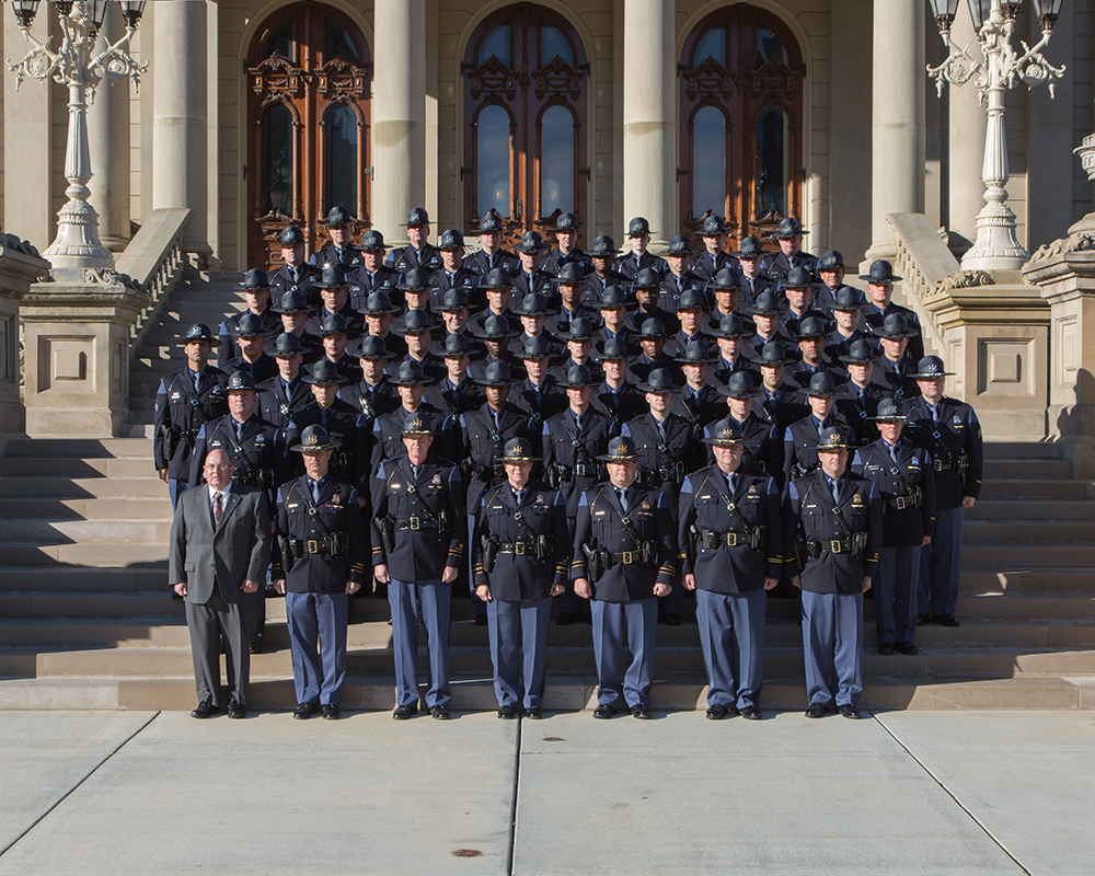 Michigan State Police December graduates
