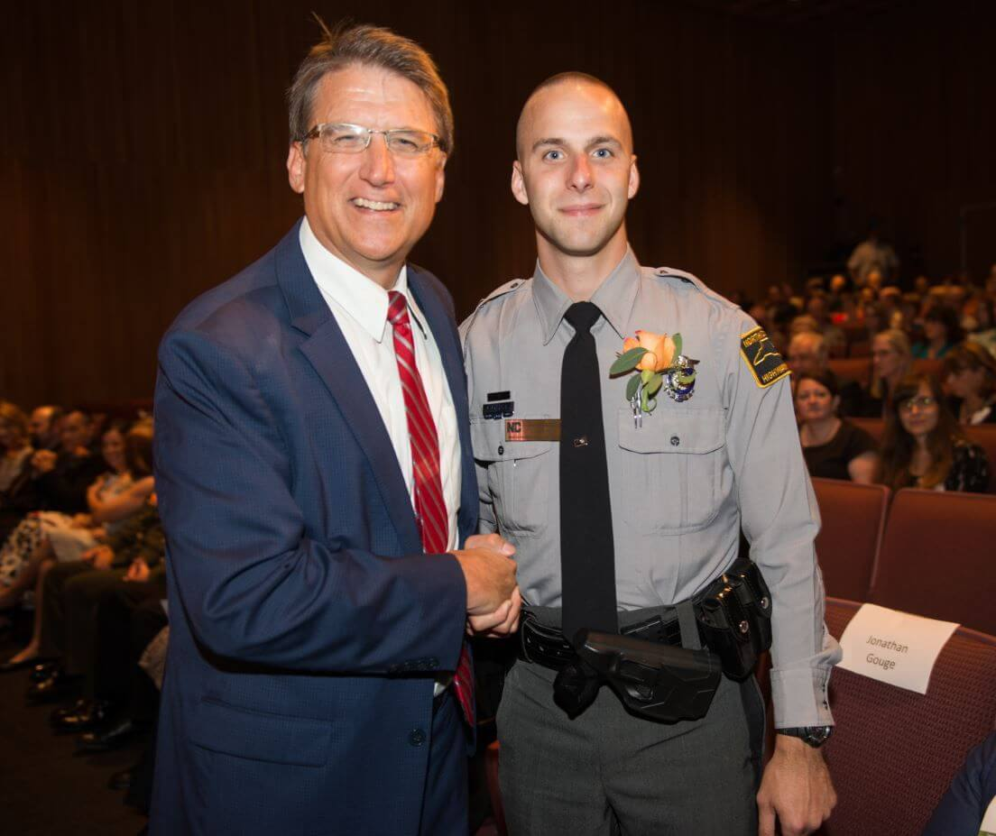 NC Trooper begin recognized by Govenor