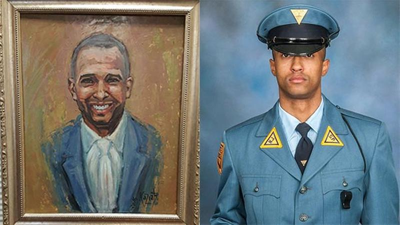 NJSP Fallen trooper painting