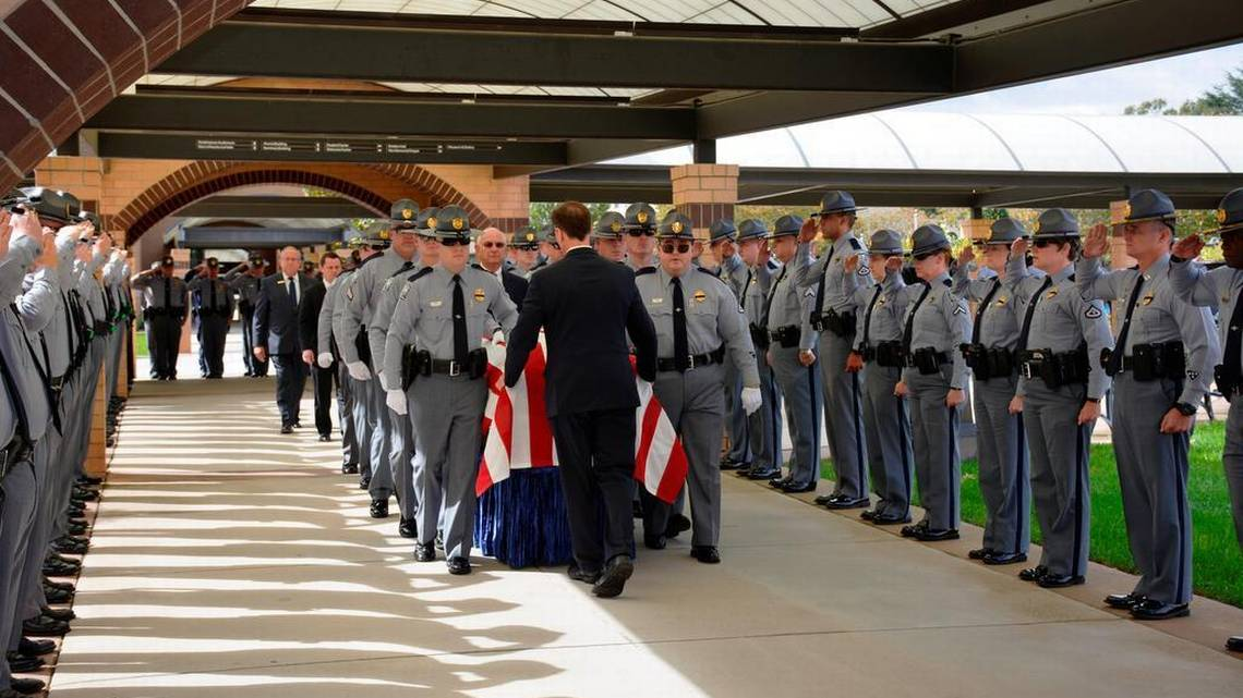 SCHP Funeral of trooper killed in line of duty