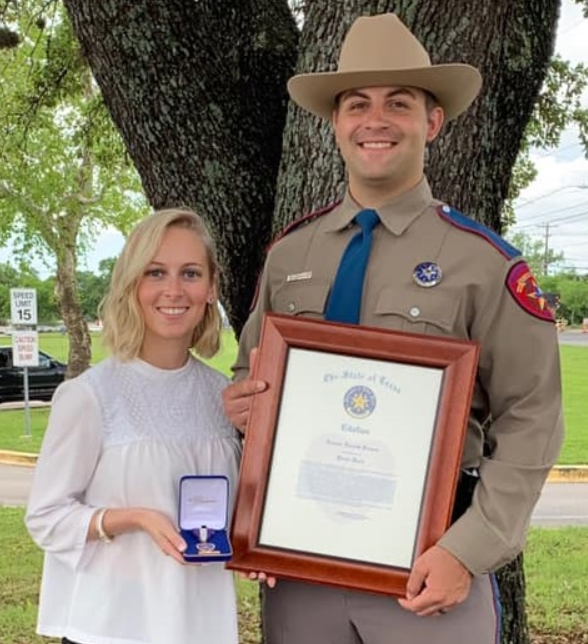 Texas Trooper receives Purple Heart
