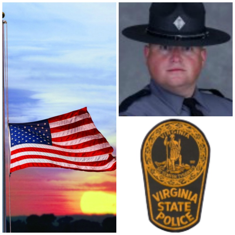 VSP Bates killed in line of duty collage