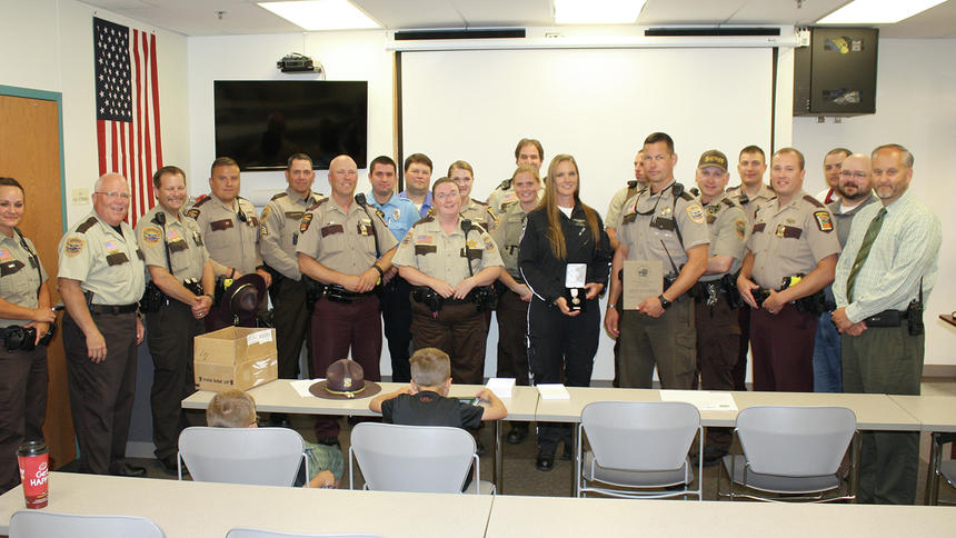WHP honors deputy and wife for saving troopers life