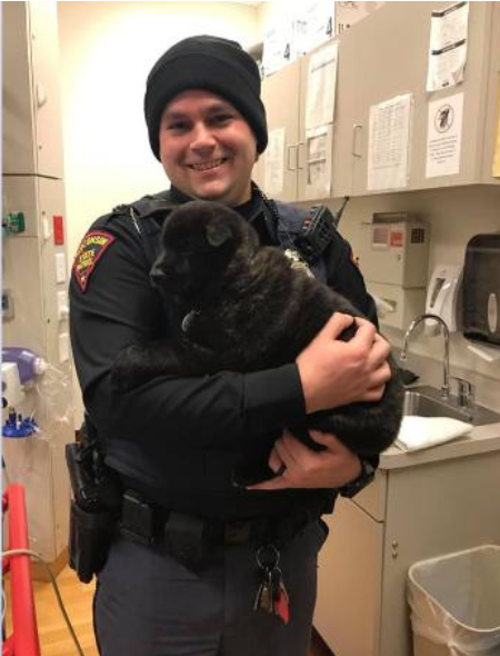WSP Trooper rescues puppy