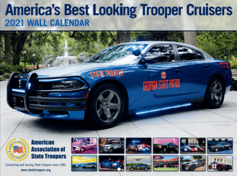 2021 Trooper Cruisers Wall Calendar
